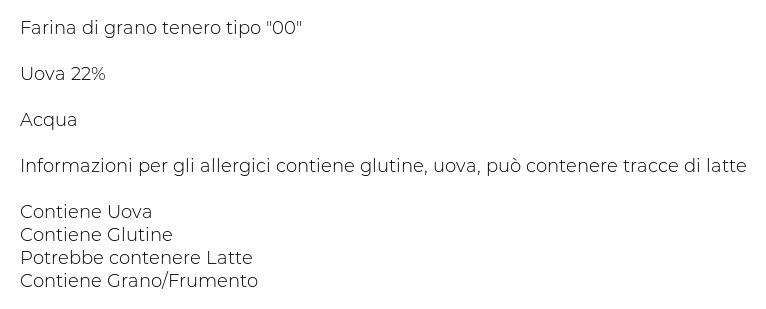 Pasta Piccinini Garganelli 0,300 Kg
