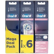 Oral-b Sensitive Clean Testine di Ricambio per Spazzolino Elettrico Ricaricabile - 6 Refills