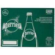 Perrier , Acqua Minerale Naturale Frizzante, Rinforzata con il Gas della Sorgente, Vetro, 75clx12