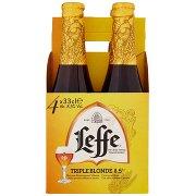 Leffe Leffe Triple Birra Dorata Belga d'Abbazia Doppio Malto Non Filtrata Bottiglia 4x33cl