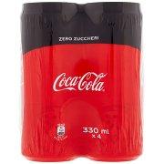 Coca Cola Zero 330ml x 4 (Lattina)