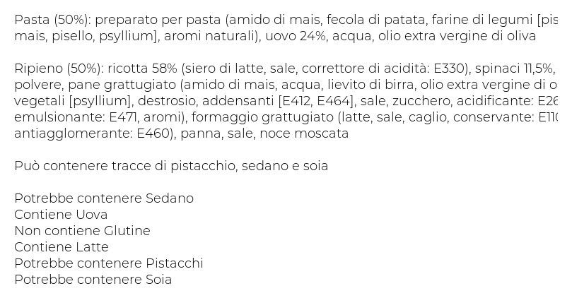 Scoiattolo Ravioloni Ricotta e Spinaci senza Glutine