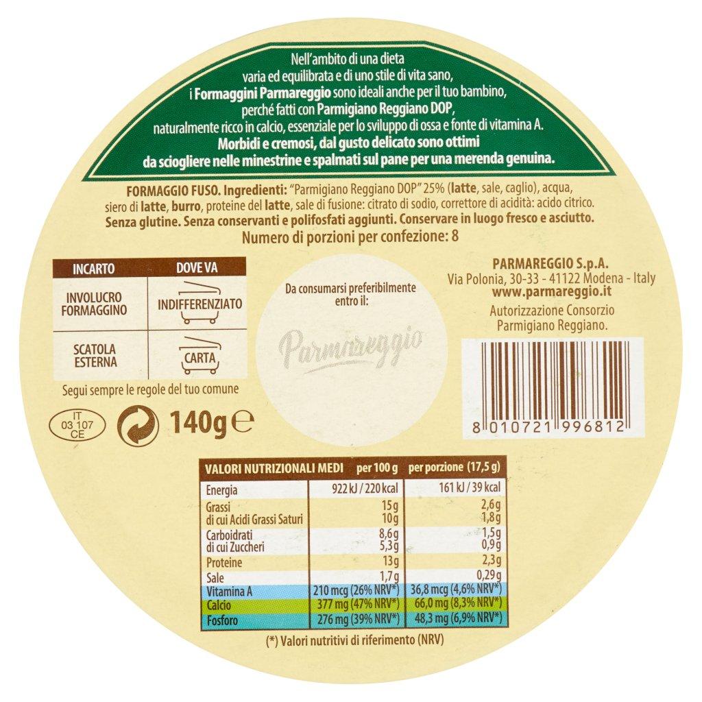 Parmareggio 8 Formaggini al Parmigiano Reggiano Confezione 140 G 2