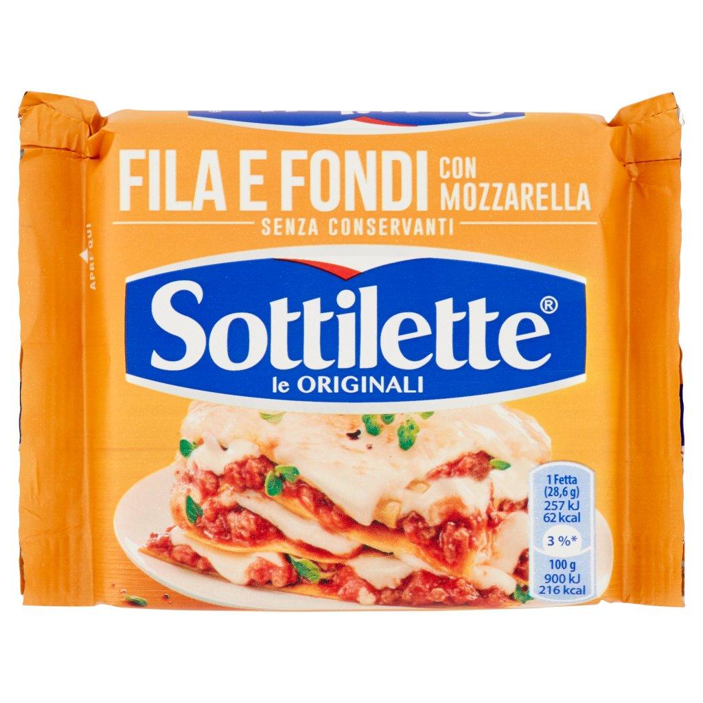Sottilette Fila e Fondi con Mozzarella Confezione 200 G 1