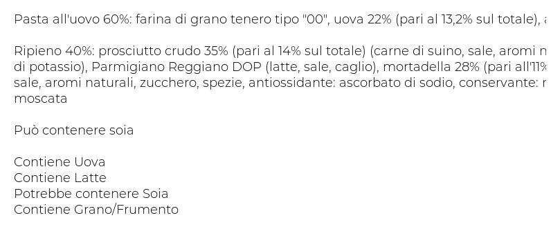 Fresche Bontá Cappelletti al Prosciutto Crudo