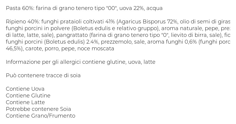 Pasta Piccinini Ravioli ai Funghi 0,500 Kg Vaschetta 0.500 Kg 4
