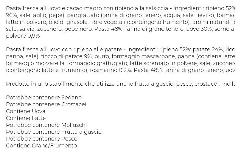 Giovanni Rana Duetto Salsiccia & Patate