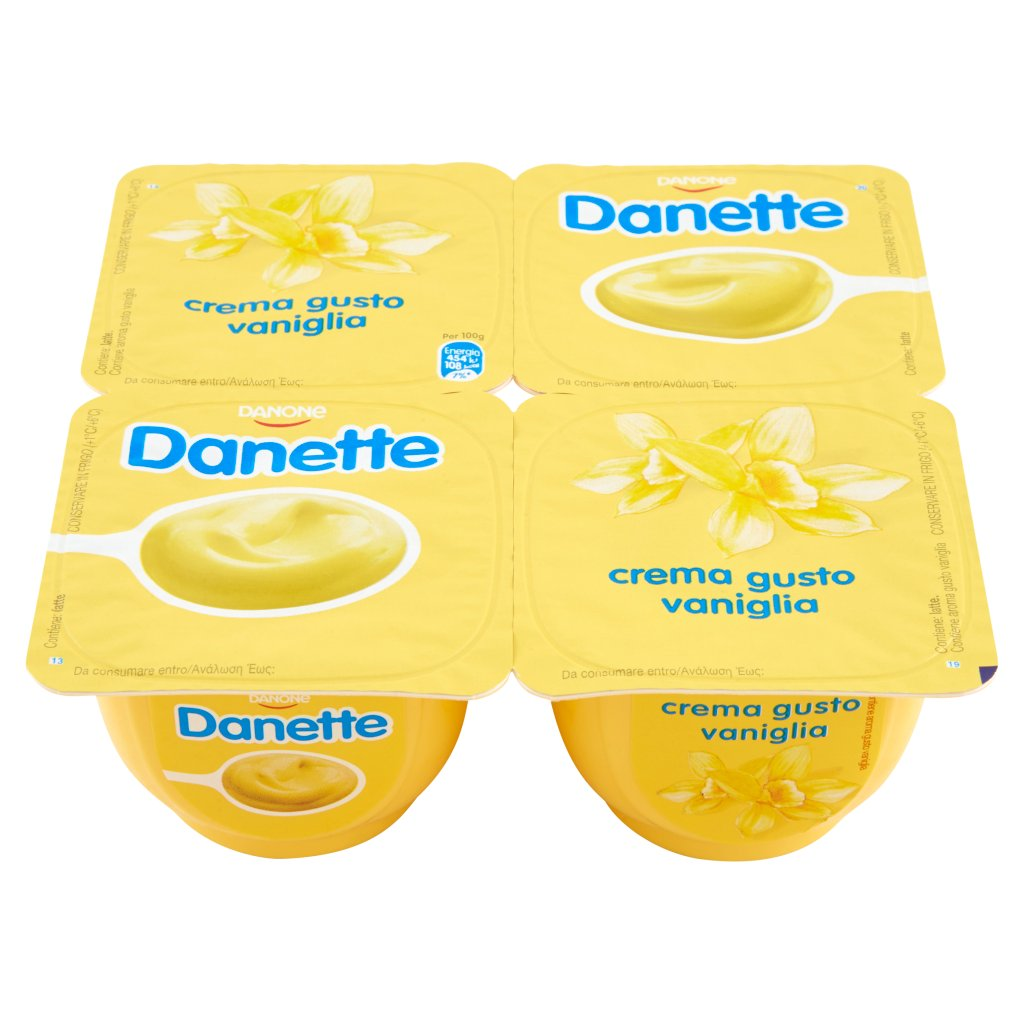 Danette Crema Gusto Vaniglia 4 x 125 g