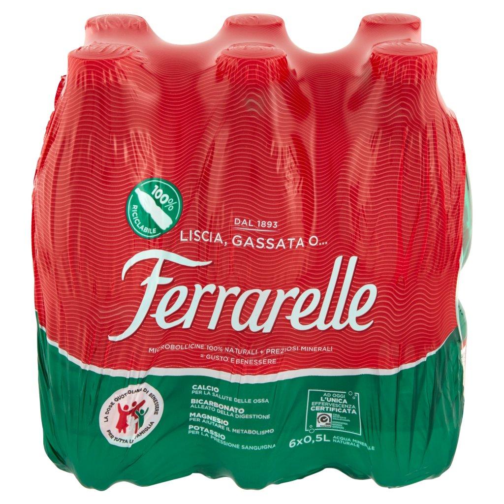 Ferrarelle 6 x 0,5 l Imballaggio 6 Bottiglie Da 0,5 L