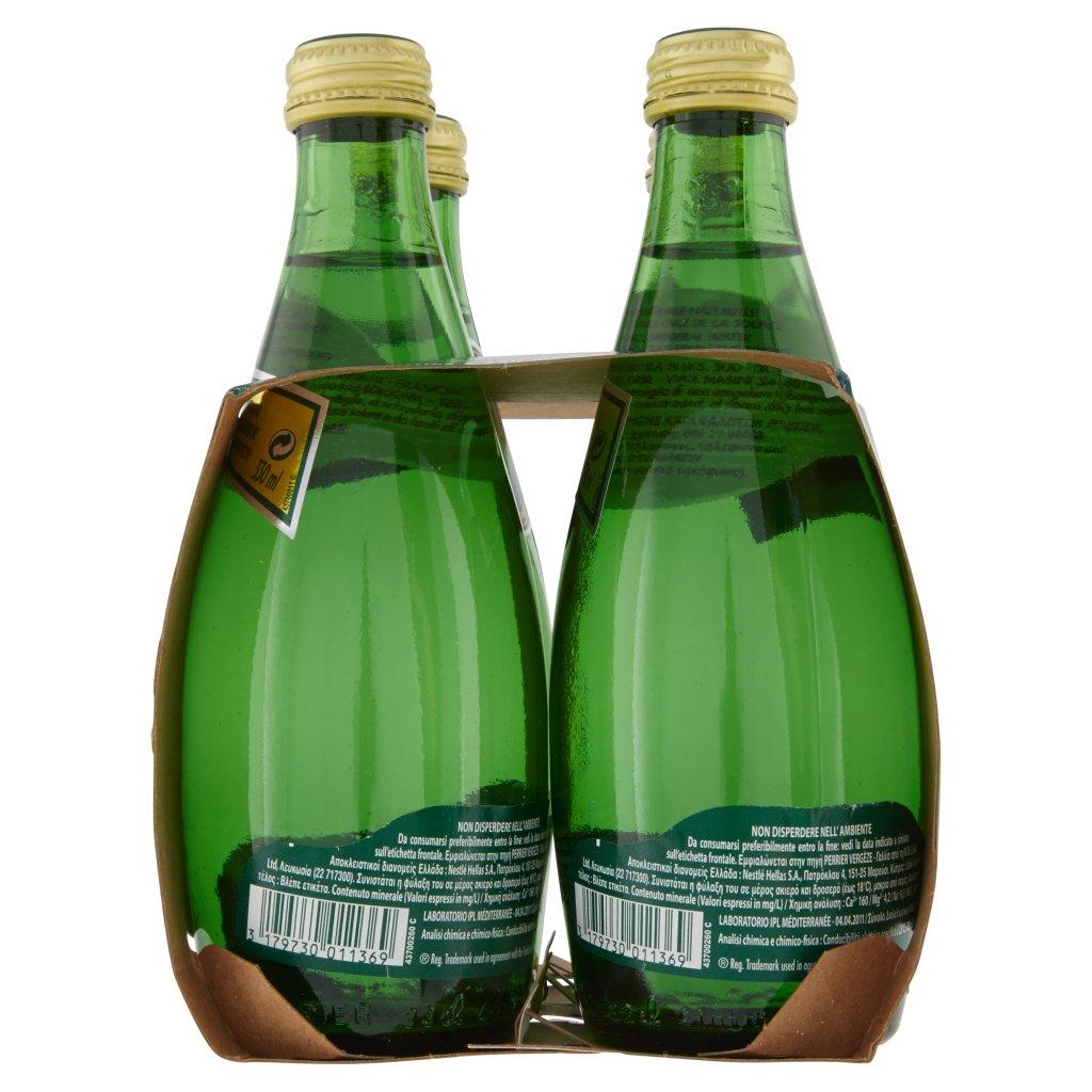 Perrier Acqua Minerale Naturale Frizzante, Rinforzata con il Gas della Sorgente