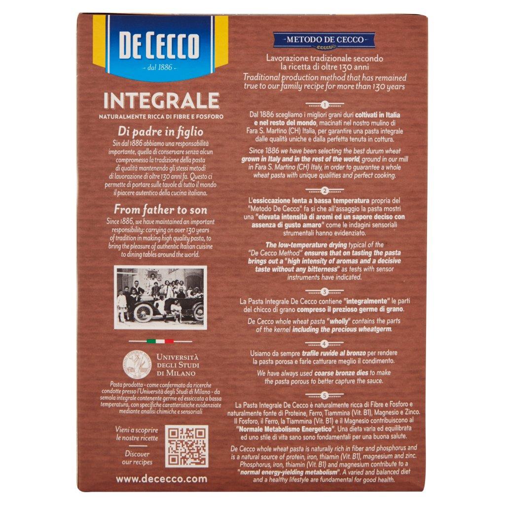 De Cecco Integrale Pennoni Rigati N° 39 Confezione 500 G 2