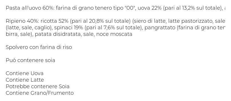 Fresche Bontá Ravioli Ricotta e Spinaci