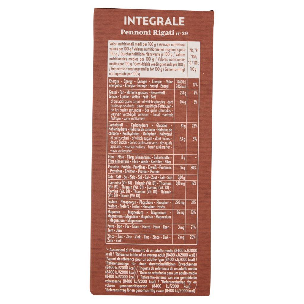 De Cecco Integrale Pennoni Rigati N° 39 Confezione 500 G 3