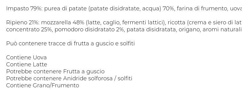 Fresche Bontà Gnocchi Ripieni Pomodoro e Mozzarella
