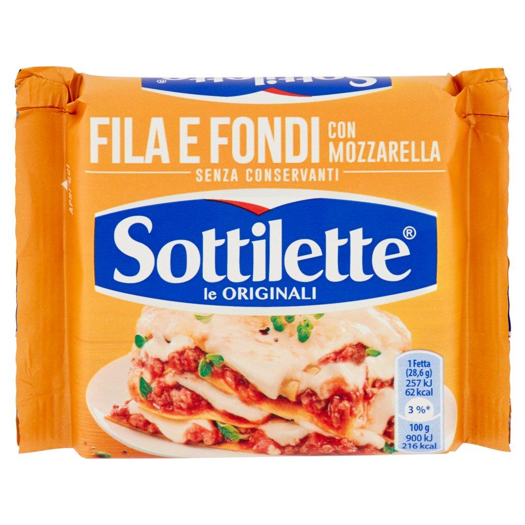 Sottilette Fila e Fondi con Mozzarella Confezione 200 G