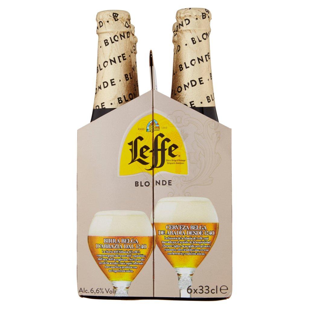 Leffe Leffe Blonde Birra Bionda Belga d'Abbazia Doppio Malto Bottiglia 6x33cl
