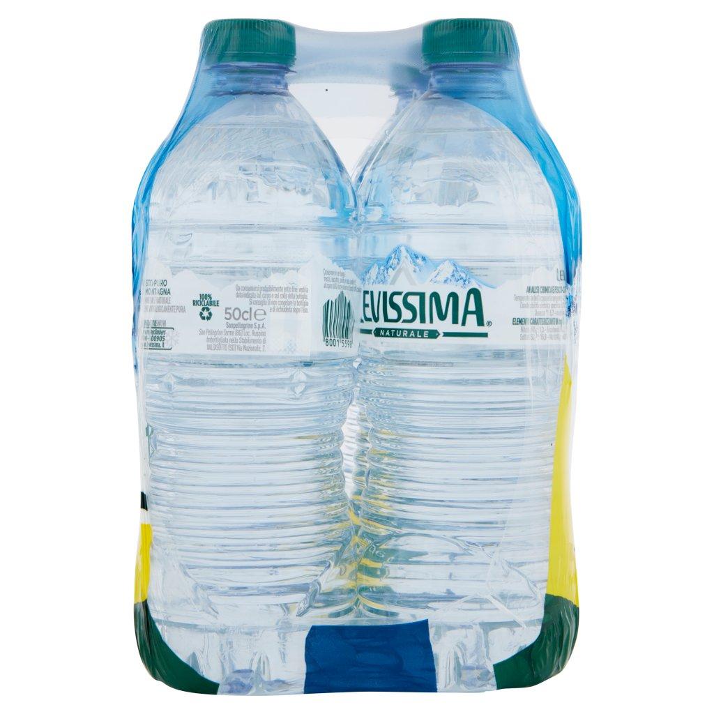 Levissima , Acqua Minerale Naturale Oligominerale, 50 Cl x 6 Imballaggio 6X50Cl 4