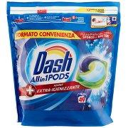 Dash Pods Allin1 Detersivo Lavatrice in Capsule + Azione Extra-igienizzante 49 Lavaggi