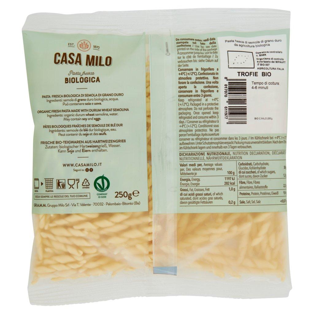 Casa Milo Pasta Fresca di Semola di Grano Duro Trofie Bio