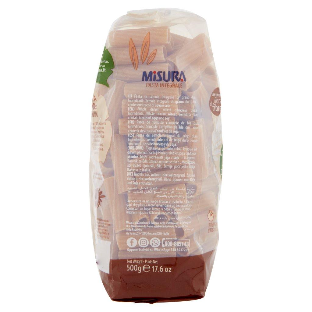 Misura Pasta Integrale Tortiglioni Trafilati al Bronzo