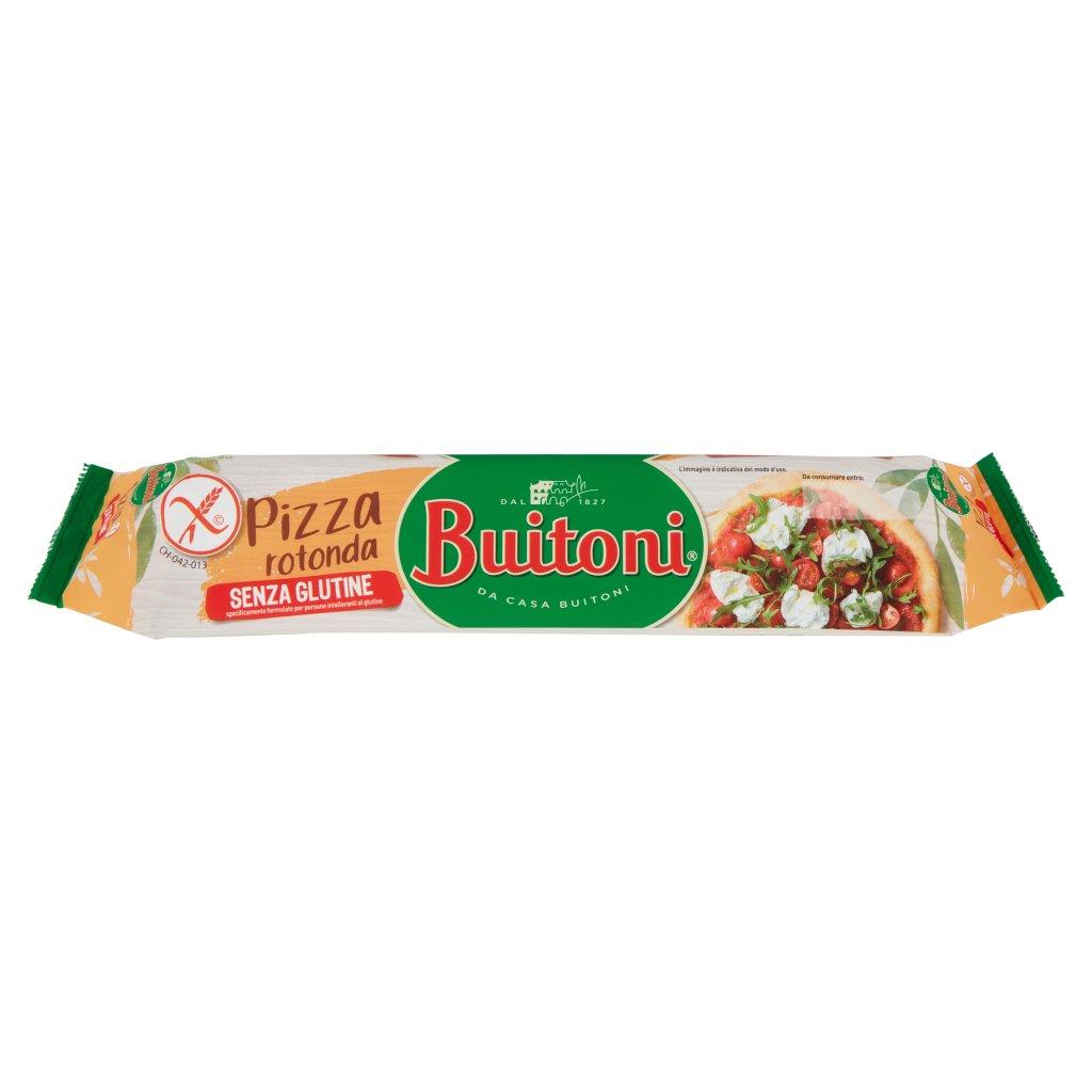 Buitoni Pizza Rotonda senza Glutine Pasta per Pizza Fresca Stesa Rotonda Rotolo