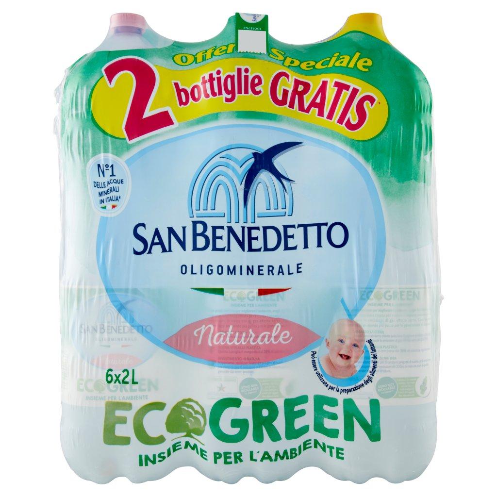 San Benedetto Ecogreen 2l (4+2) Naturale - Fonte Benedicta