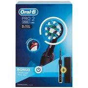 Oral-b Power Spazzolino Elettrico Ricaricabile Pro 2 2500 Black Edition + Custodia Viaggio