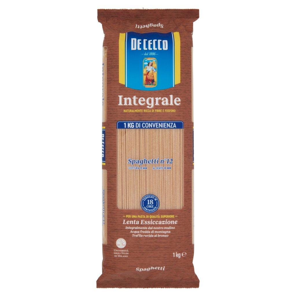 De Cecco Integrale Spaghetti N° 12