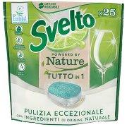Svelto Powered By Nature Tutto in 1 Pastiglie per Lavastoviglie X25