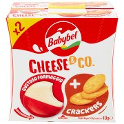 Babybel Cheese & Co. Gustoso Formaggio + Crackers 2 x 40 g