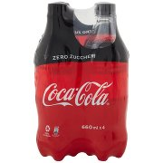 Coca Cola Zero 660ml x 4 (Pet)