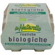 Le Naturelle Rustiche Biologiche da Galline Allevate senza L'Uso di Antibiotici* 4 Uova