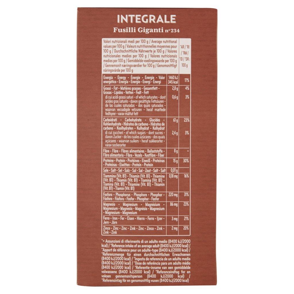 De Cecco Integrale Fusilli Giganti N° 234 Confezione 500 G 3