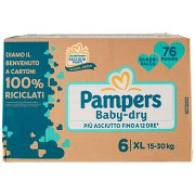 Pampers Baby-dry 6 Xl 76 Pz