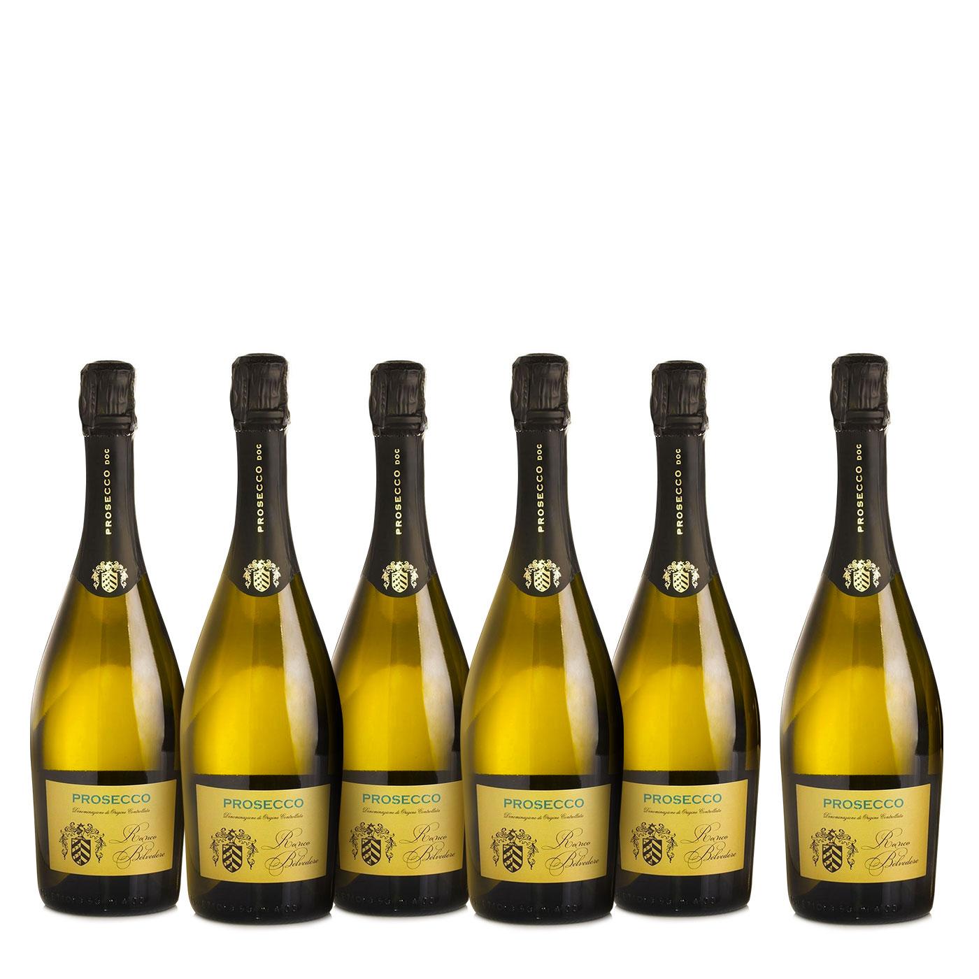 Ronco Belvedere Kit 6 Bottiglie Prosecco 0,75l