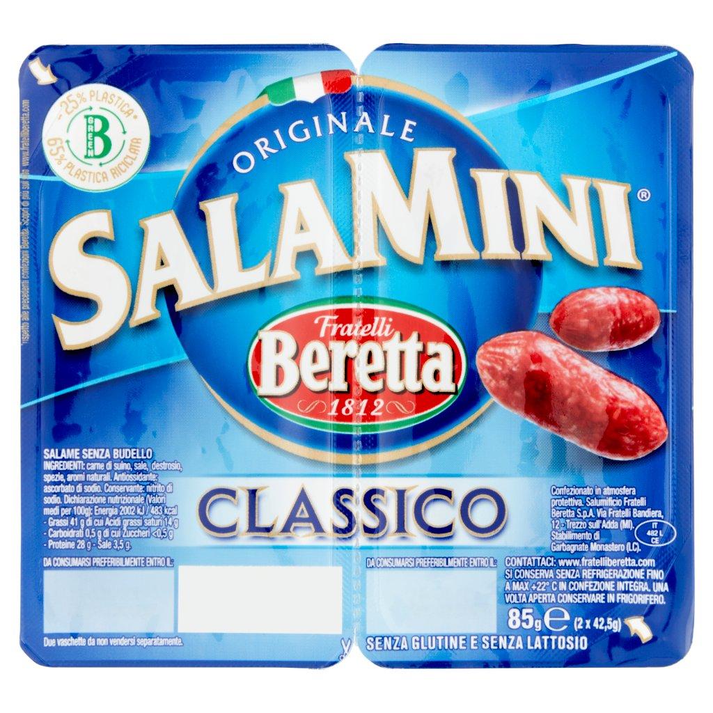 Fratelli Beretta Salamini Classico 2 x 42,5 g Vaschetta 85 G 1