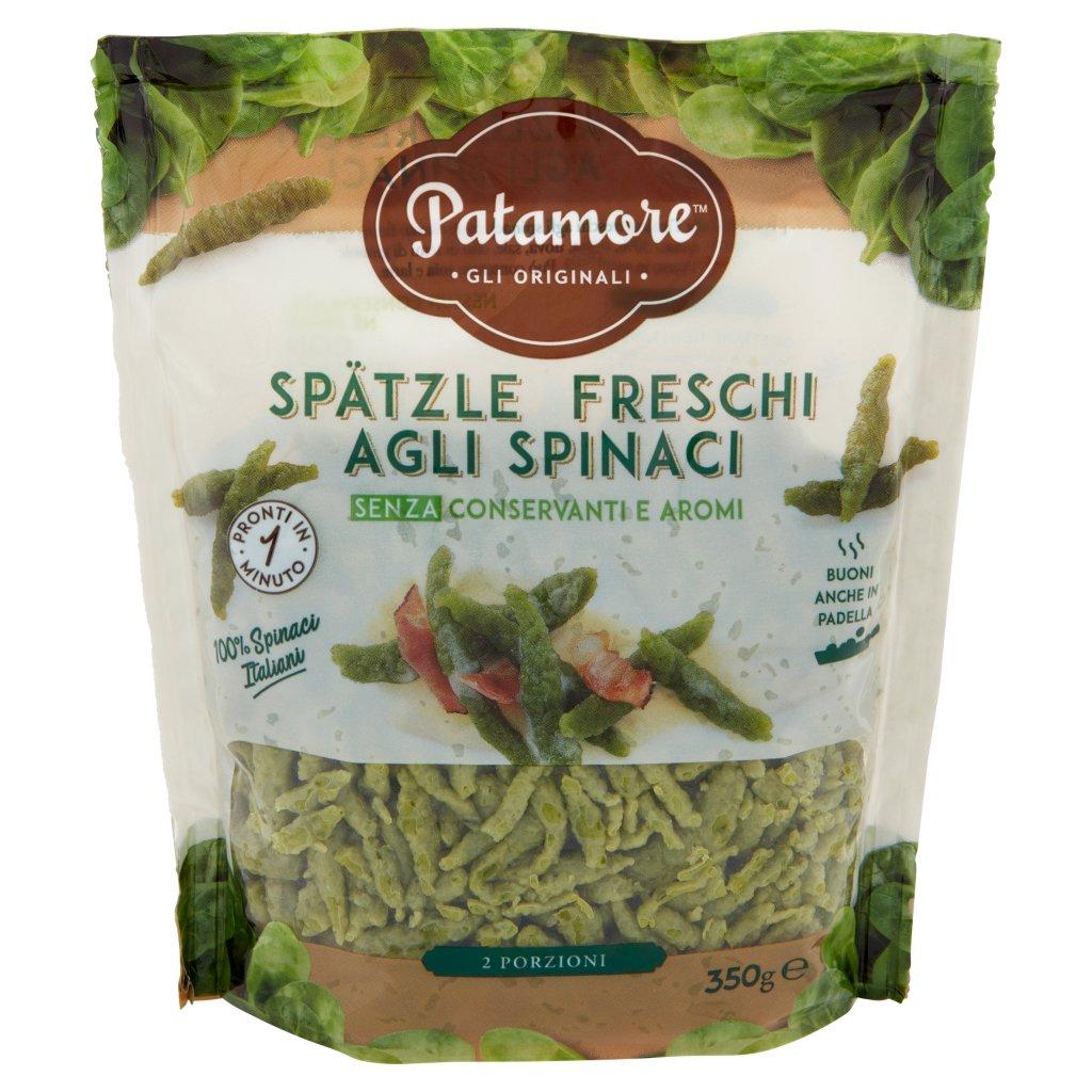 Patamore Spätzle Freschi agli Spinaci