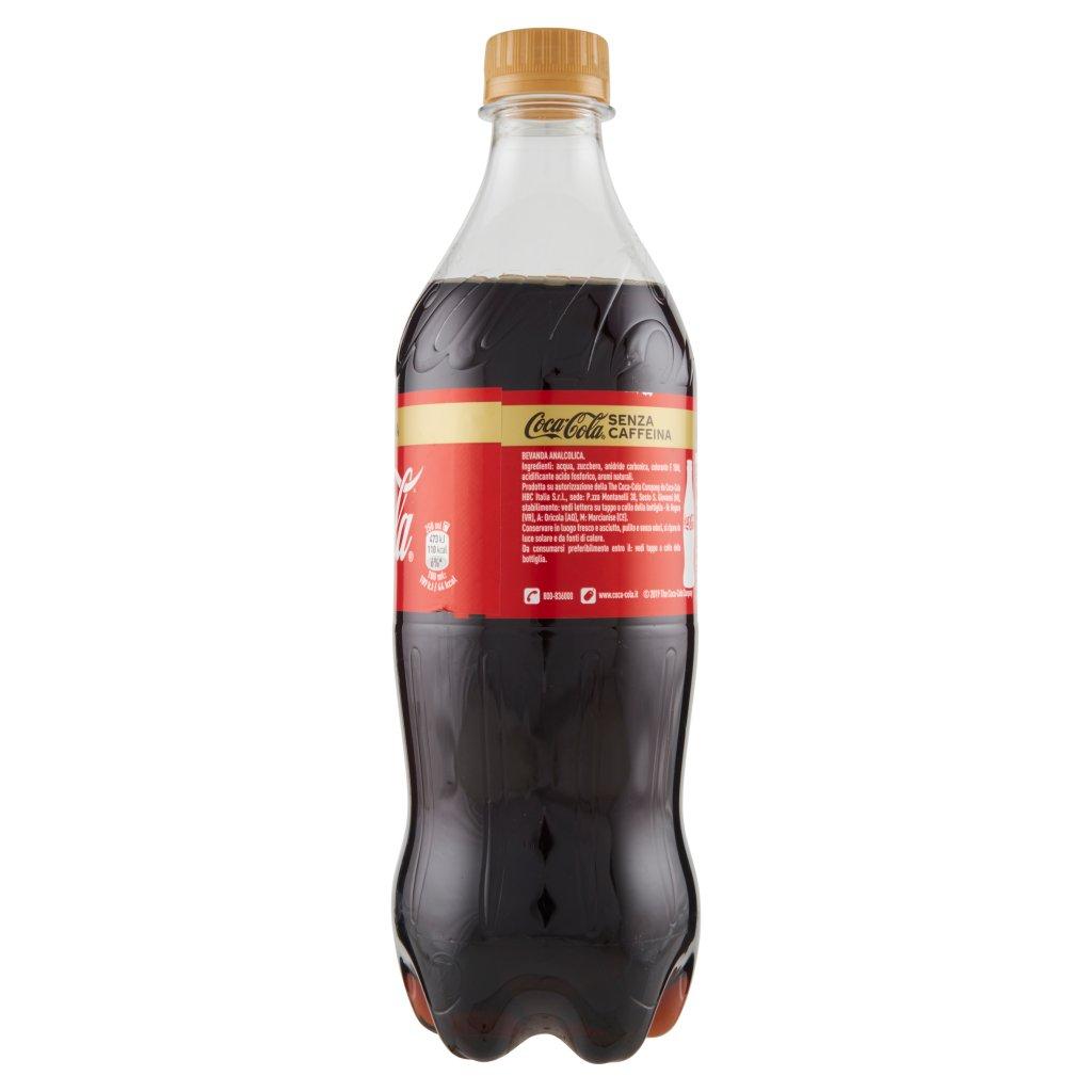 Coca Cola senza Caffeina Bottiglia di Plastica da