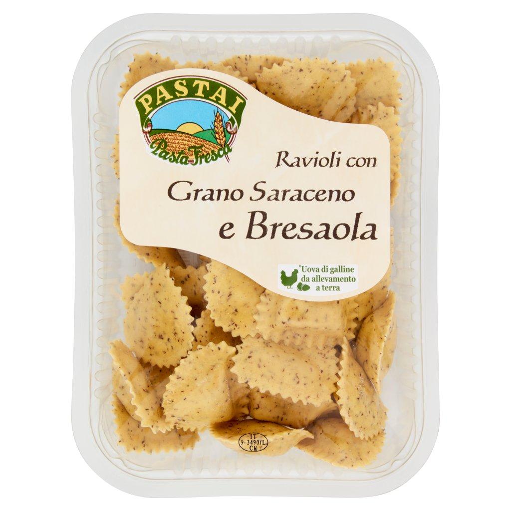 Pastai Ravioli con Grano Saraceno e Bresaola