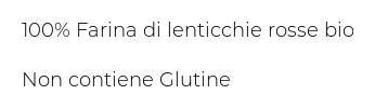 Felicia Sedanini Lenticchie Rosse Bio