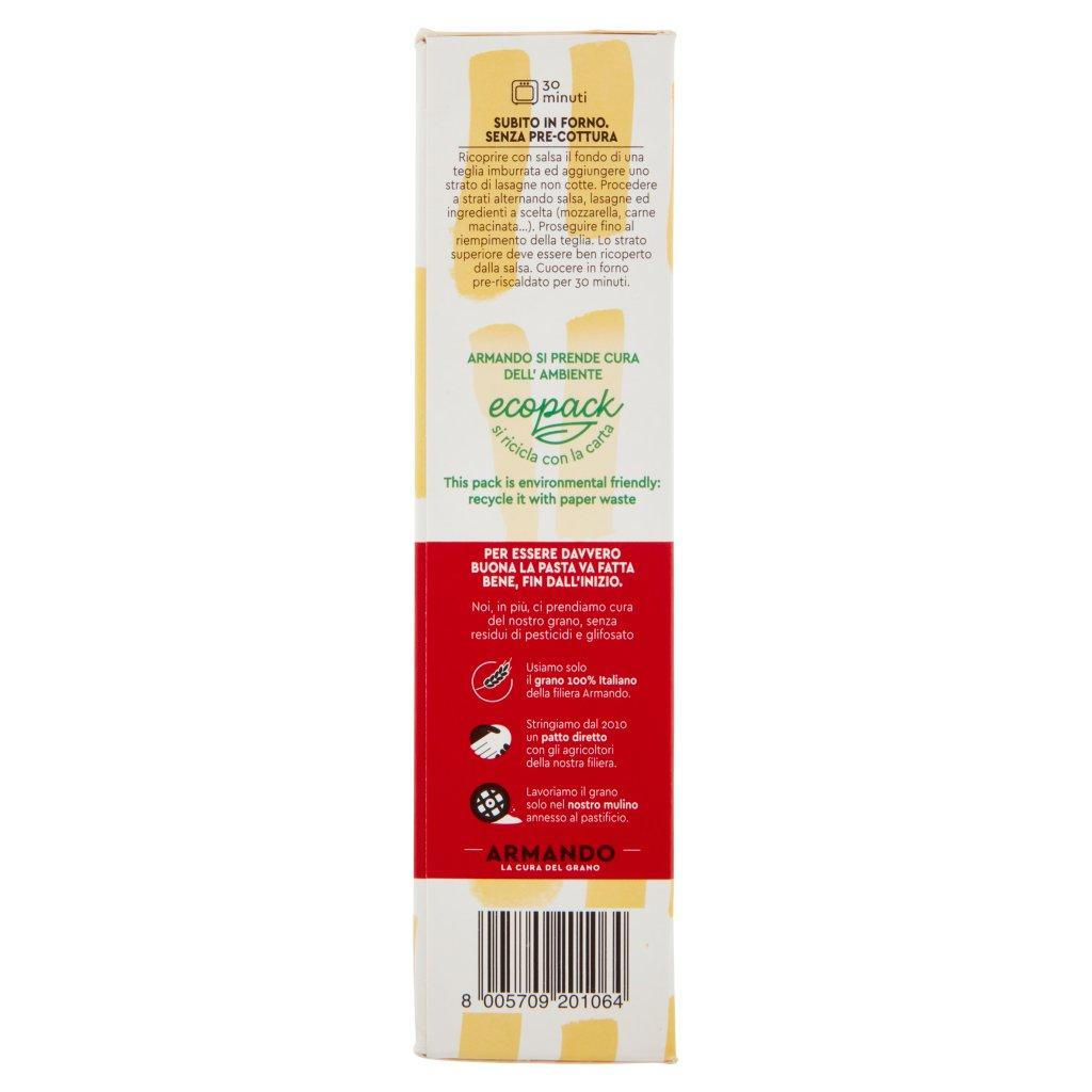 Armando Metodo Zero Residui di Pesticidi e Glifosato la Lasagna
