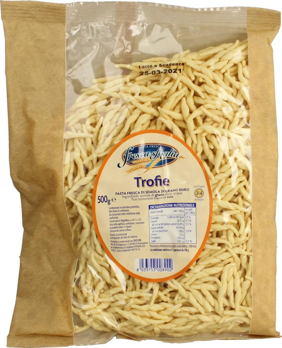 Pasta Fr Semola Trofie Fresca Sfoglia 500 g