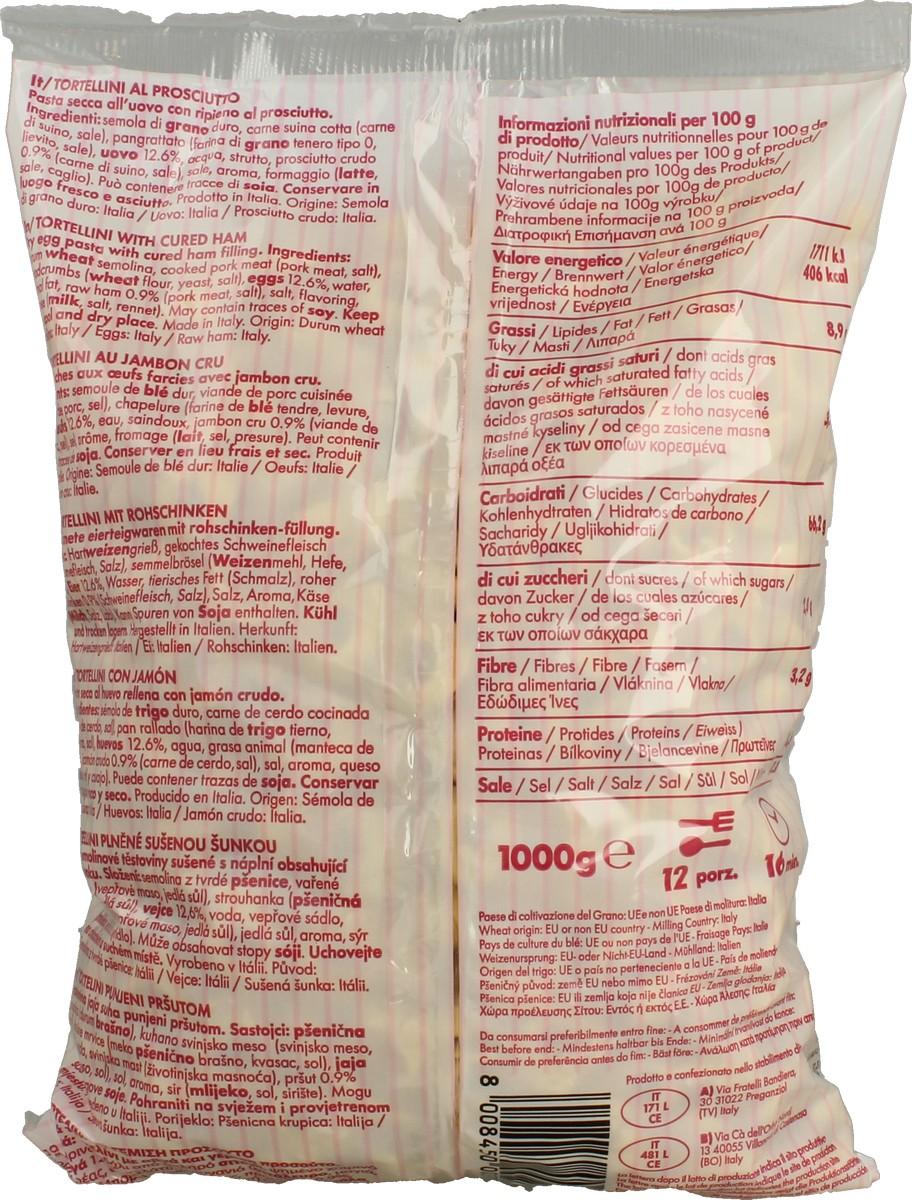 Pasta Secca Rip.Tortellini Prosciutto Crudo 1 Kg