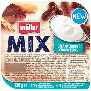 Müller Mix Jogurt o Smaku Śmietankowym z Rurkami w Polewie z Czekolady Mlecznej