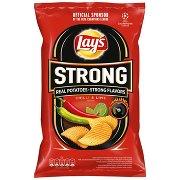 Lay's Strong Chipsy Ziemniaczane Karbowane o Smaku Ostrego Chilli i Limonki