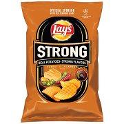 Lay's Strong Chipsy Ziemniaczane Karbowane o Smaku Sera i Ostrej Papryki