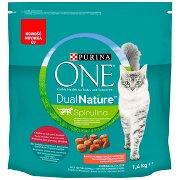 Purina One Dual Nature Spirulina Karma Dla Dorosłych Kotów Wołowina Jako Pierwszy Składnik 1,4 Kg
