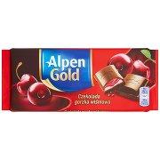 Alpen Gold Czekolada Gorzka Wiśniowa