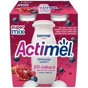Actimel Mleko Fermentowane o Smaku Granat-jagoda-maca 4 x 100 g