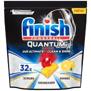 Finish Quantum Ultimate Lemon Tabletki Do Mycia Naczyń w Zmywarce (32 Sztuki)